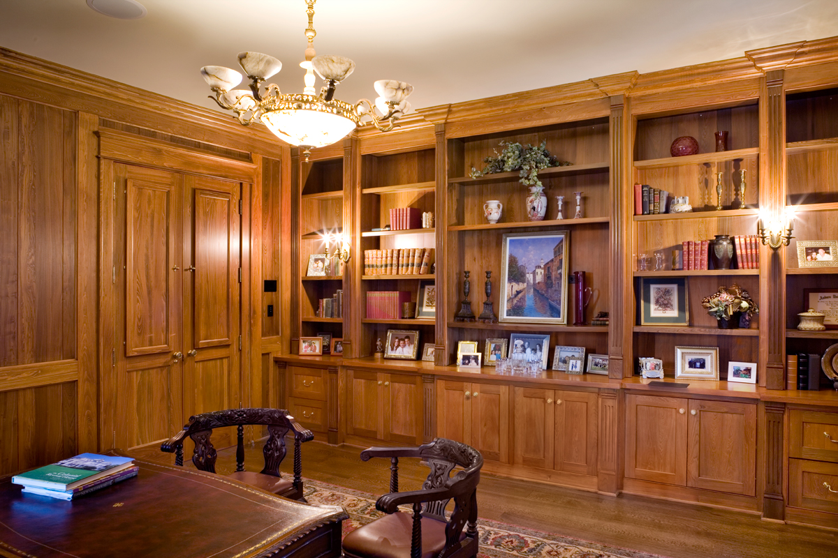 Custom Made Cabinets and Shelves for Home Office and Studies ...