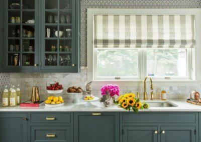 gray kit sink window